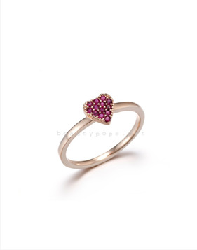 [Bitter Sweet]Z-17 Pink heart ring