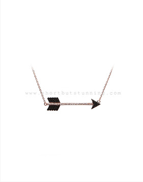 [Bitter Sweet]Z-72 Long arrow necklace