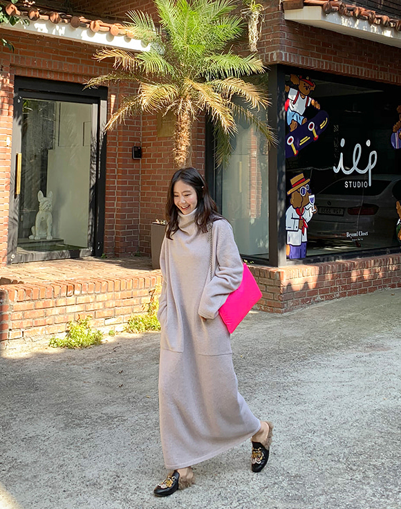 [Shortbutstunning]wholegarment cashmere Blending maxi dress 공구