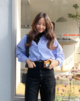 [Shortbutstunning] Blue Stripe Shirts 공구